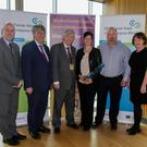 From left: At the County Enterprise Awards earlier this year are Tom Banville (LEO), John Carley (Director of Services), Tony Dempsey Chairman of Wexford County Council, Martina Hennessy, John Hennessy and Breege Cosgrave