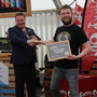 YellowBelly Beer's Danny Trappe accepting the award for Best Pale Ale in Ireland. Credit: Beoir
