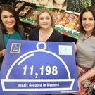 Iseult Ward, FoodCloud Co-Founder, Elaine Maguire, Aldi's Corporate Responsibility Director and Aoibheann O'Brien, FoodCloud Co-Founder
