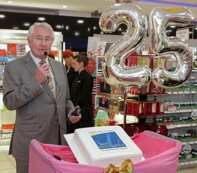 Sam McCauley celebrating the company's 25th anniversary of his Redmond Square store last December