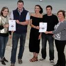 At the presentation of certificates: Kevin Dunne, O'Neill's Dry Cure; Yvonne Doyle Curtis, Tides Gastro Pub; Tom Sinnott, Wexford Preserves; Jodie and Fergal Dempsey, Wild and Native Seafood Restaurant; and Paula Ronan, Wexford Food Family