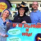 Ashing Maher, Deborah Kells, Gareth Hale and Saba Swina promoting Gorey Chamber's 'Spend Halloween in Gorey' initiative
