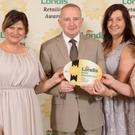 Daria Chabros, Londis Larkin's Cross; Dermot O'Neill, Londis Regional Development Manager; and Tracey Fitzpatrick and Hillary O'Brien, Londis Larkins Cross