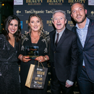 Julie Ann Murphy with Lucy Kennedy, Louis Walsh and Mateo Saina at the awards ceremony in Dublin
