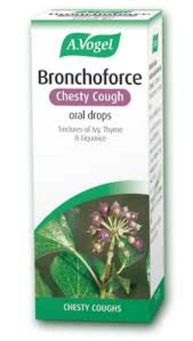 Bronchoforce is a herbal tincture that can help to alleviate a chesty cough