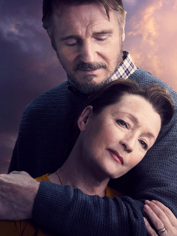 Liam Neeson as Tom and Lesley Manville as Joan in Ordinary Love