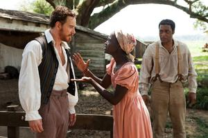 Michael Fassbender, Lupita Nyong'o and Chiwetel Ejiofor in 12 Years A Slave (Monday, Film4, 9pm)