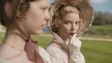 Mia Goth as Harriet Smith and Anya Taylor-Joy as Emma Woodhouse in Emma