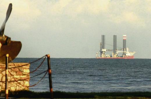 Oil rig pictured off Courtown believed to be sheltering from the storms