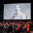 The orchestra on stage at the National Opera House during the performance of Michael Rooney's new suite, 'Macalla 1916: A Celebration of Easter 1916'. Picture by Sean Rowe