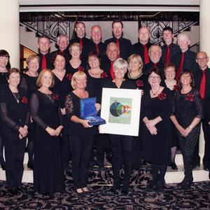 The group with chairwoman Tina Smith and musical director Eithne Corrigan