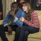 Daniel Kaluuya as Chris Washington and Allison Williams as Rose Armitage in Get Out.