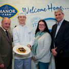 Dr Frank Cullen, Head of DIT School of Culinary Arts, Joseph Roche, Caitríona Redmond, food author and blogger of Wholesome Ireland and Vincent Carton, Managing Director Manor Farm