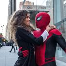 Zendaya as MJ and Tom Holland as Spider-Man in Spider-Man: Far From Home
