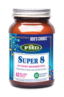 Udo's Choice Super 8 is a probiotic that may help with bloating
