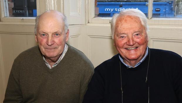 Tom Smith and Ray Shanks at the 'Post Christmas' Party in the Church Institute, Enniscorthy
