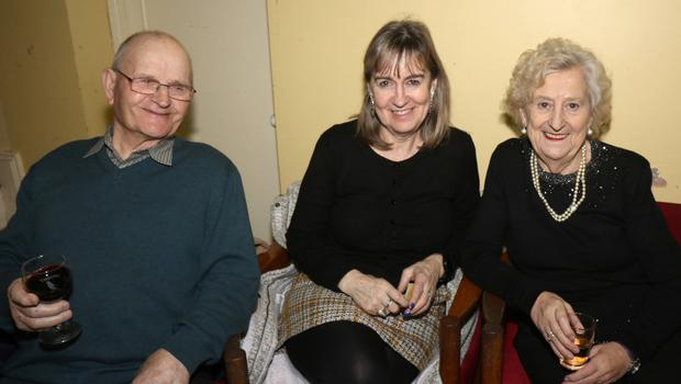 Willie, Audrey and Phyllis Chapman enjoying the recent senior citizens party in Boolavogue Hall