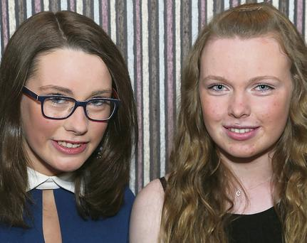 Cousins Ciara and Ciara Nolan at the ball.