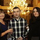 Sheila Donohoe, Mikey Doherty and Leonie Whittaker enjoying their Christmas party in the Ashdown Park Hotel