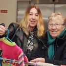Lisa Walsh with her mother, Jean Keane at Gorey Creative Craft and Art Group's craft fair upstairs in Gorey Shopping Centre