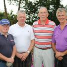 David Rafter, brothers Paddy and Gerry O'Connor and Seamus Doyle who took part in the Pat Cody memorial golf classic at Enniscorthy Golf Club in aid of County Wexford Hospice and Wexford Mental Health Association