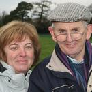 Linda McIntyre and Des McCabe at Wexford and District Coursing Club's 88th Loch Garman Cup meeting at Woodland
