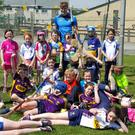 Wexford county hurler Jack O'Connor pictured at Craanford NS during his recent visit for the school's jersey day