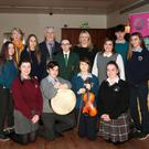 At the launch of 'In Harmony' for the WWETB in the National Opera House (from left) back – Brianna Furlong McGrath (Coláiste Abbáin), Eilis Leddy (Director of Schools, WWETB), Shauna McGovern (Bunclody Vocational College), Mayor of Wexford, Cllr Jim Moore, Amy Flavin (St Paul's CC), Mary Minchin (music teacher, St Paul's CC), Sinéad O'Hara (Education Coordinator), Christian Burnett (Kennedy College) and Sarah Justice (Coláiste an Átha); front – Emma Coe (St Declan's CC), Robert Morrissey (Selskar College), Hannah Wright (Bridgetown College) and Ciara Seery (Enniscorthy Vocational College).