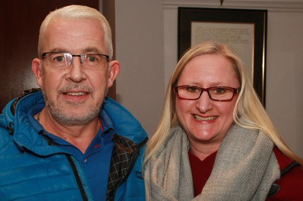 John and Joan Duignan enjoying a night out at the One Act Drama Festival in Gorey Little Theatre