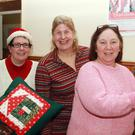 Michelle Doyle, Paige Burgard and Susan Breen at the Christmas market in Ballygarret parish hall