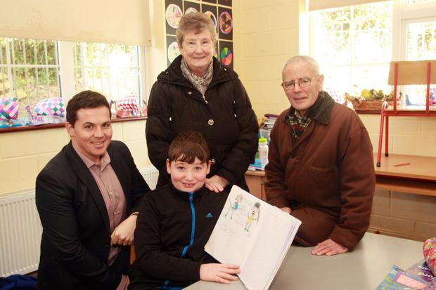 Enjoying Grandparents Day in Ballyduff NS were school principal Lorcan Browne with Tommy and Chrissie Rooney and their grandson, James Brennan