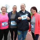 Goretti Hayes, Samantha Brady, John O'Rourke and Michelle Grant taking part in the St Patrick's Special School 5K Fun Run at the Enniscorthy Sports Hub