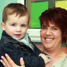 Roisin Cousins with her son, PJ at celebrations to mark 50 years of Court National School, Monamolin