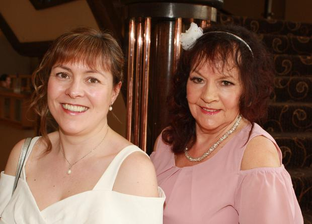 Jennifer Keeshan and Trudy Long enjoying a night out at the Amber Springs Hotel