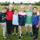 Gavin Brennan, Annabel Doyle, Cathal Dunphy, Shifra Dunbar, Luke Byrne and Jack Kelly-Doyle at Castledockrell N.S. Sports Day.