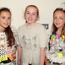 Bunscoil Loreto pupils Sadhbh Fortune, Niamh Murphy and Sasha McCloskey modelling at the fashion show as part of the Creative School initiative