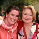 Jane Merrigan and Mary Hughes enjoying some of the fine food on offer at the Coolgreany street barbecue