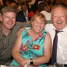Aidan and Samantha Wafer and Nicky Murphy enjoying the Enniscorthy Rugby Club Dinner Dance in the Riverside Park Hotel