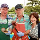 Brian Murphy with Michael and Doloras Dunbar at the Ballyoughter Field Day