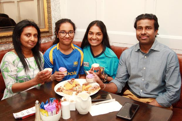 Nalin, Duleeka, Senuri and Swetha Wickramaratne at the coffee morning in the Coach House, Gorey in aid of Sri Lanka orphanages