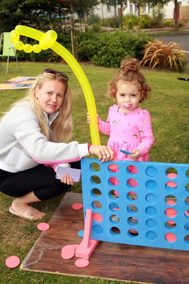 Veronica Cosan and her daughter Emily enjoying the family fun day at Glenbeg Point, Ardamine
