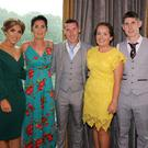 Aoibhe,Suzanne and Maurice Donohoe, Ciara Sharkey and Grahame Donohoe at the Moyne Rangers dinner dance in the Riverside Park Hotel