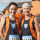 Marie Kenny and Debbie Griffin at the annual Mick Murphy 4 Mile Road Race 2019 in Ferns village