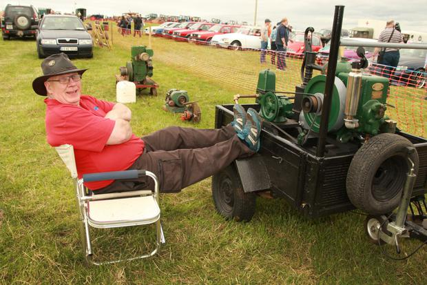 John Abbott relaxing at the Coolgreany vintage day