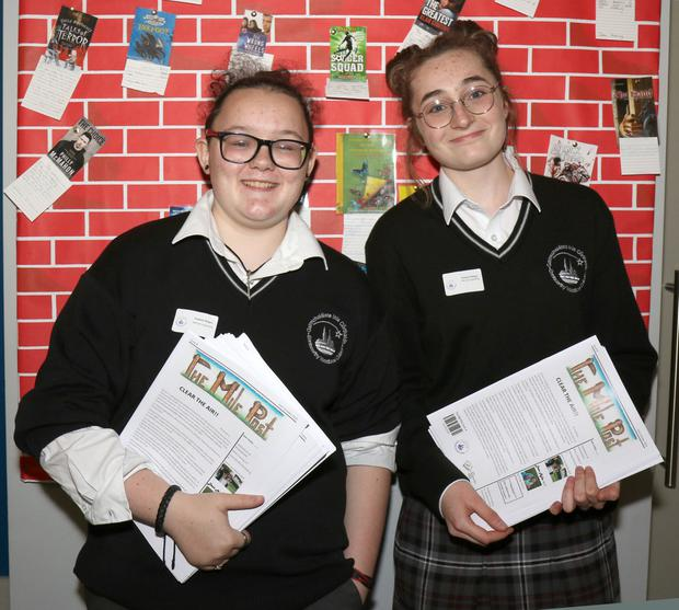 Lily Byrne and Isabelle Lombard at the Enniscorthy Vocational College open evening