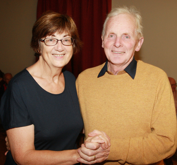 Francis and Eileen Porter enjoying the Gorey Musical Society's social dancing event in the Shamrock Hall, Kilanerin