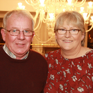 John and Ann Byrne enjoying the production of the 'Camolin version of Fawlty Towers' at the Ashdown Park Hotel