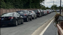 Rows of cars that were lined up outside homes at the cul de sac before Morriscastle strand beach on the weekend of July 18 and 19