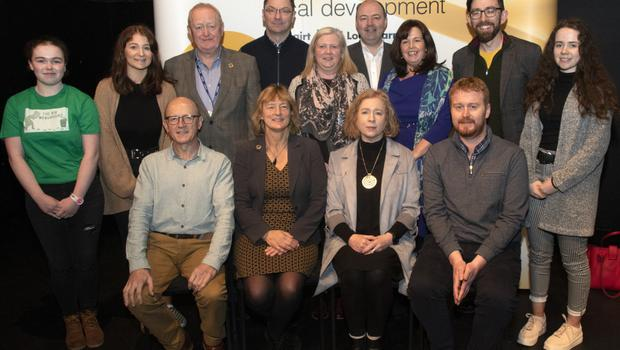 At the Climate Justice Talk hosted by Wexford Local Development were, back row: Eve Nic Sheoin, Emily Sinnott, Willie Murphy (WLD), Cllr Michael Sheehan, Irene Cadogan (moderator), Brian Kehoe (CEO WLD), Claire Ryan (WLD), Cllr Leonard Kelly and Matilda Meaney. Front row: Michael Wall (Chairperson WLD), Grace O'Sullivan MEP, Ann Irwin (Community Work Ireland) and Dr Conor Murphy (Maynooth University)