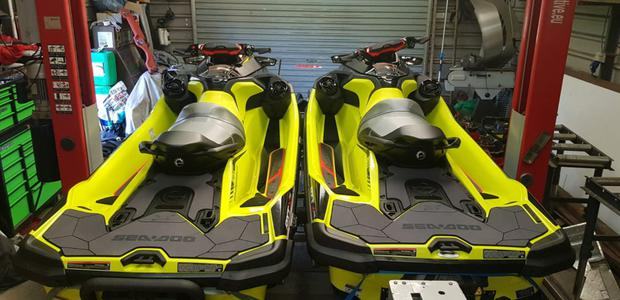 The two jet skis seized in the Oylegate area
